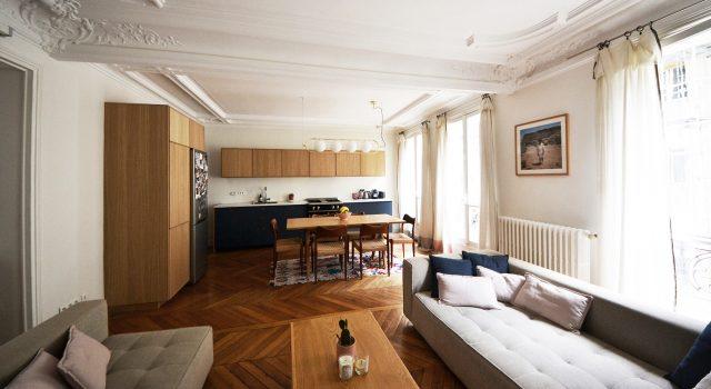 Appartement familial 100m² – Paris 10